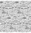 Supermarket hand drawn seamless pattern vector image