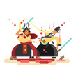 sushi character samurai design vector image vector image