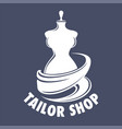 tailor shop isolated icon handmade clothes vector image vector image