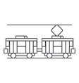 tram thin line icon concept tram linear vector image