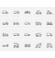 Transportation sketch icon set vector image vector image