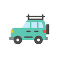 travel car simple flat icon vector image vector image