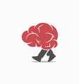 walking-brain-logo vector image vector image