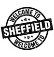 welcome to sheffield black stamp vector image vector image