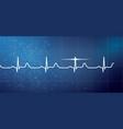 white heart beat pulse electrocardiogram rhythm vector image