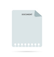 White sheet of paper Material design vector image