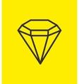 silhouette diamond luxury gem icon design vector image