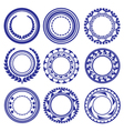 Circle Elements Pattern vector image
