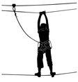 in adventure park rope ladder vector image