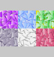the colorful set of abstract polygonal geometric vector image