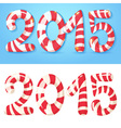 2015 figures winter card vector image