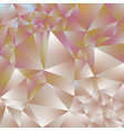 abstract polygonal square background rose gold vector image vector image