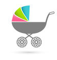 Baby carriage - pram icon isolated on white vector image vector image