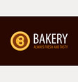 backery logo with pretzel in circle - always fresh vector image vector image