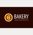Backery logo with pretzel in circle - always fresh