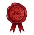 Best Recipe Wax Seal vector image vector image