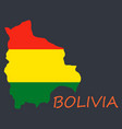 bolivia flag map vector image vector image