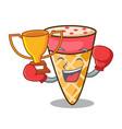 boxing winner ice cream tone mascot cartoon vector image vector image
