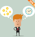 Business man thinking of choice - - EPS10 vector image vector image