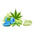 cannabis organic medical vector image vector image