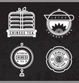 chinese tea logo badge vector image vector image