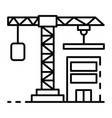 construction crane icon outline style vector image vector image