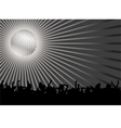 dancing crowd vector image vector image