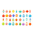 different christmas bauble clipart isolated on vector image vector image