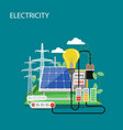 electricity concept flat style design vector image
