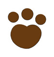 feline paw footprint isolated icon vector image vector image