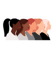 female heads with different hairstyles vector image