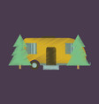 flat icon in shading style trailer in forest vector image vector image