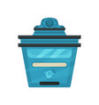 flat icon of metal postal box vintage wall vector image vector image