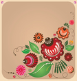 floral Russian style design vector image vector image