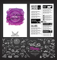 Food menu restaurant template design Flyer cafe vector image vector image