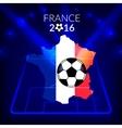 football championship france europe 2016 vector image