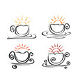 four degrees of roasting coffee vector image