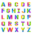 Fun english alphabet one line colorful letters set vector image