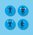 gym and fitness lifestyle vector image vector image