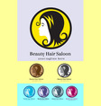Hair saloon logo vector image
