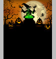 halloween party invitation with terrible pumpkins vector image vector image