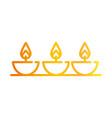 happy diwali india festival burning candles diya vector image vector image