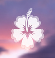 Hibiscus flower icon vector image vector image