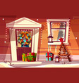 house in christmas or new year decorations vector image