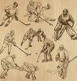 Ice Hockey - An hand drawn pack vector image vector image