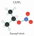 Isopropyl C3H7NO3 nitrate molecule vector image vector image