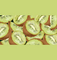 kiwi pattern realistic detailed 3d vector image