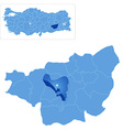 Map of Diyarbakir - Yenisehir is pulled out vector image vector image
