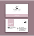 minimal business card print template design vector image vector image