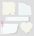 notebook sticker vector image vector image